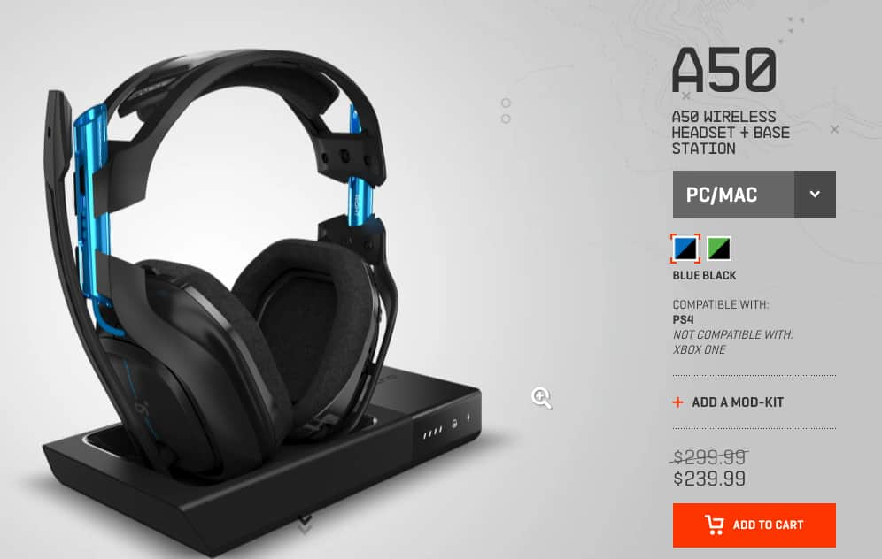 Astro A50 gaming headset for PS4/XBOX/PC/MAC (free ship) $239.99