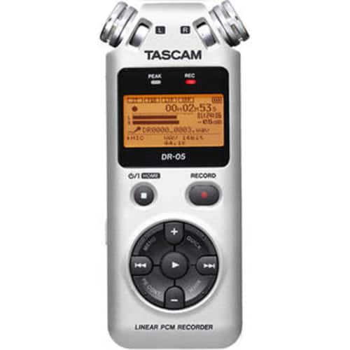 Tascam DR-05 Portable Handheld Digital Audio Recorder (Silver or Red) $69.99 @ B&H Photo w/ Free Shipping