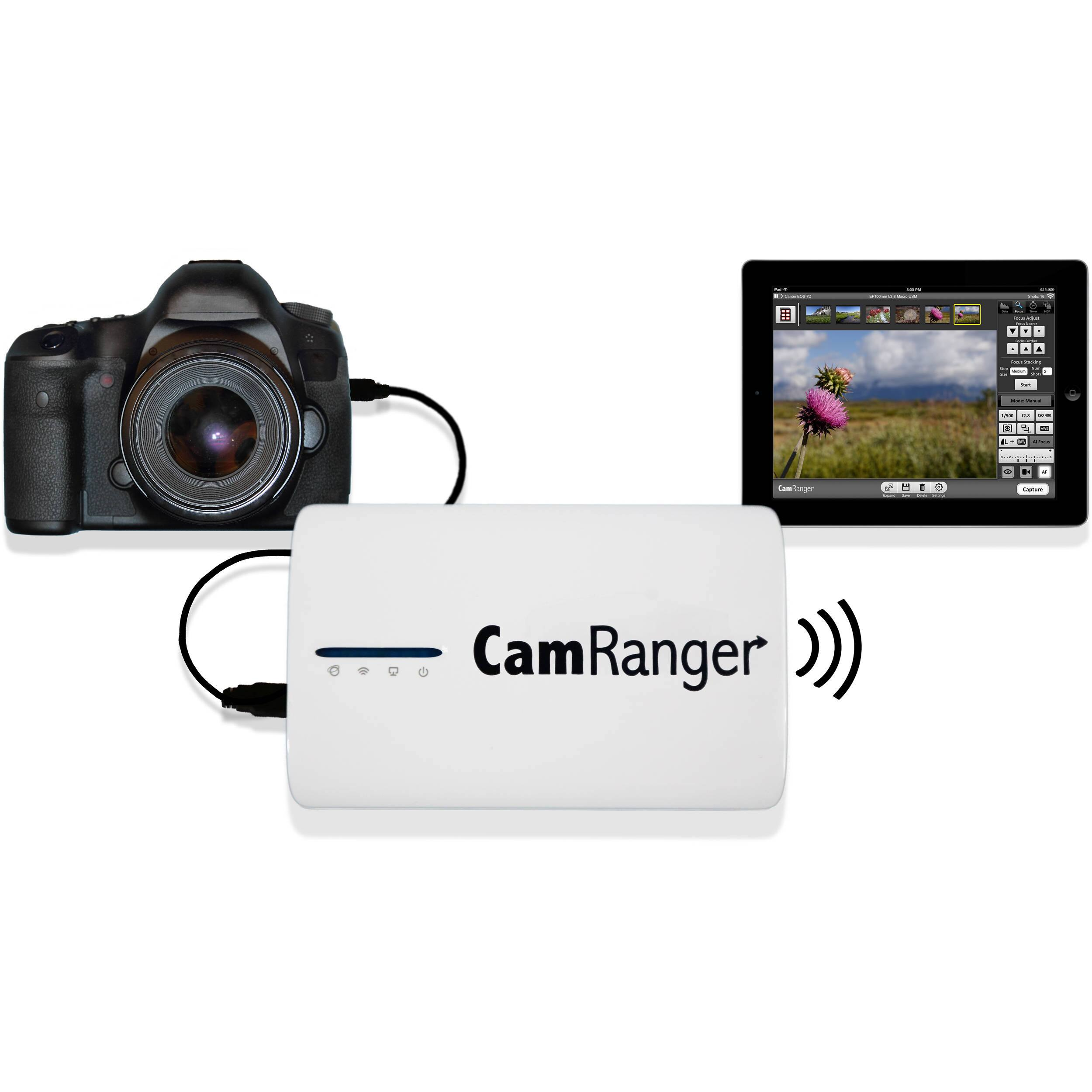 CamRanger Wireless Transmitter for Select Canon and Nikon DSLR Cameras [Without Mounting Solution] $199.99 @ B&H Photo w/ Free Shipping
