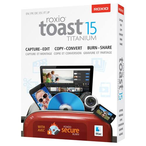Roxio Toast 15 Titanium for Mac (Boxed) $29.99 @ B&H Photo w/ Free Shipping