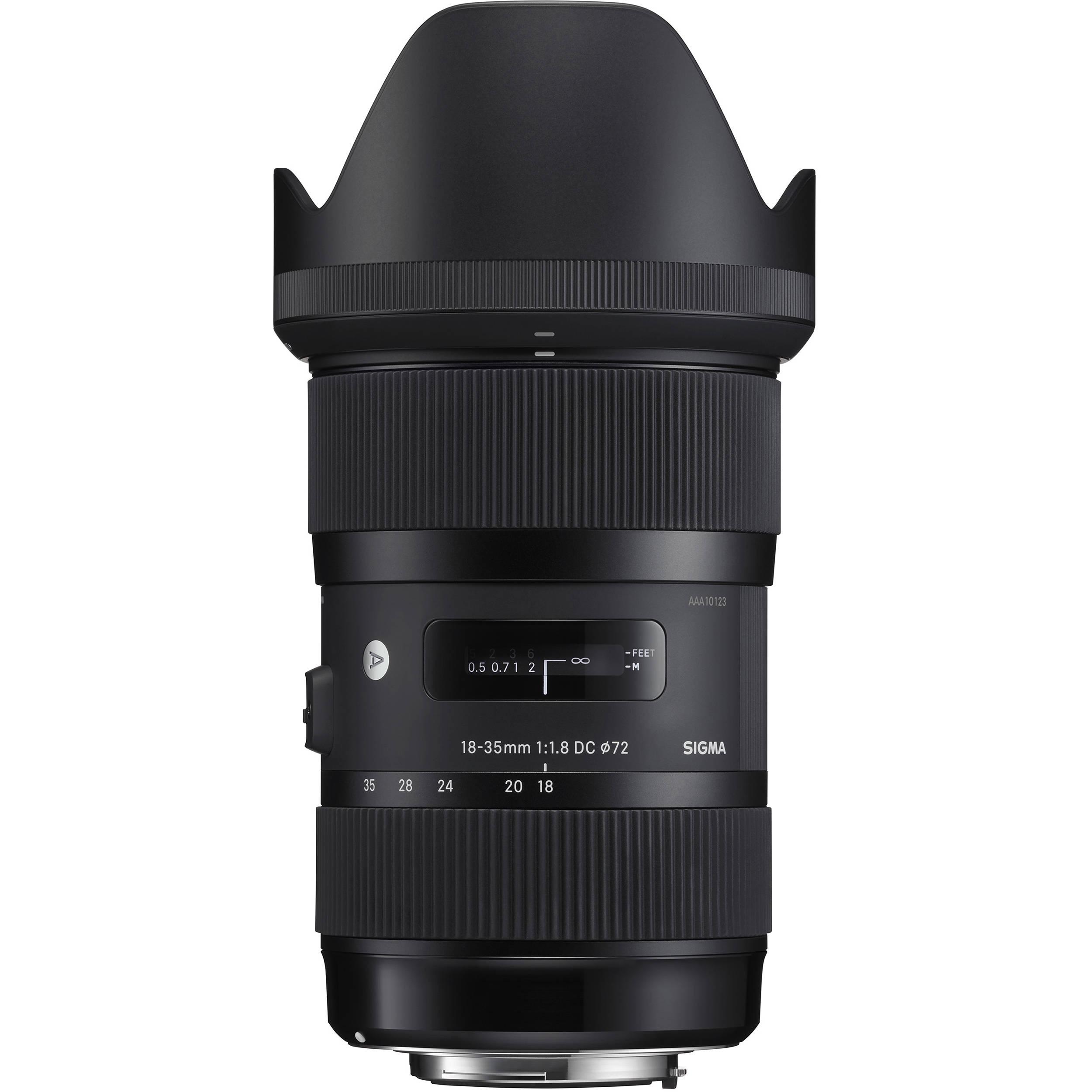 Sigma 18-35mm f/1.8 DC HSM Art Lens (Choose Type)  $599 @ B&H Photo w/ Free Shipping