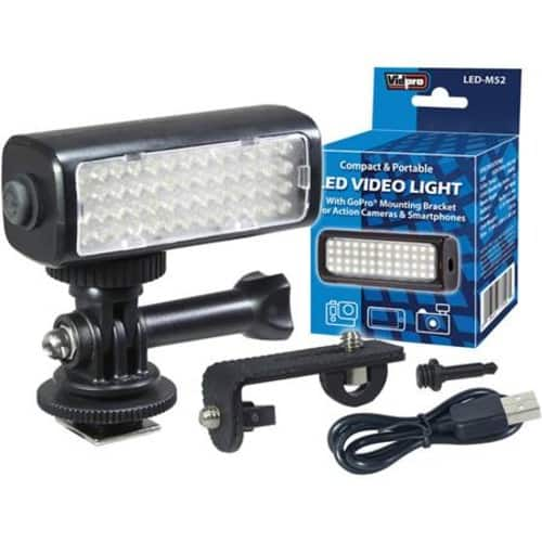 Vidpro Mini LED Video Light Kit for Action Cameras, Camcorders, and Smartphones  $15.95 @ B&H Photo w/ Free Shipping