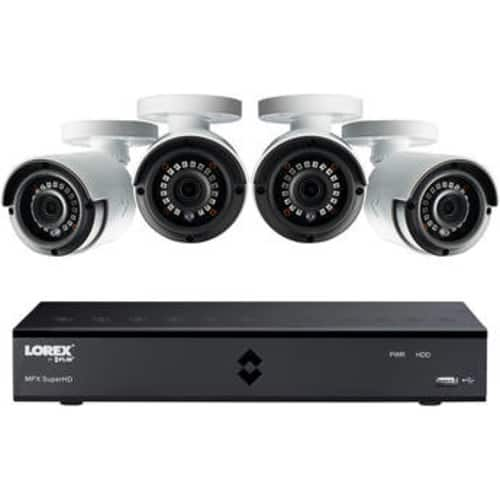 Lorex by FLIR 8-Channel 4MP MPX DVR with 1TB HDD and 4 4MP Outdoor Night Vision Bullet Cameras Kit  $269.99 @ B&H Photo w/ Free Shipping