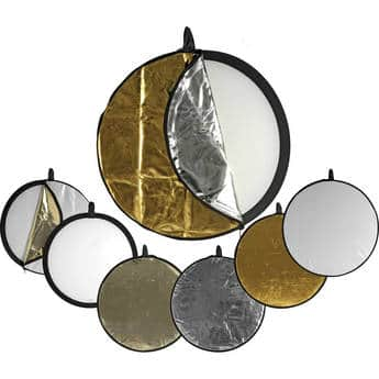 """Impact 5-in-1 Collapsible Circular Reflector Disc - 32"""" $19.95 @ B&H Photo w/ Free Shipping"""