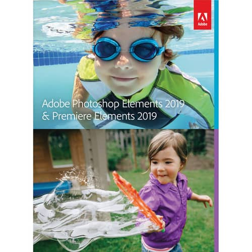 Adobe Photoshop Elements 2019 & Premiere Elements 2019 (DVD/Download Code, Mac and Windows) +$10 B&H E-Gift Card $89.99 @ B&H Photo w/ Free Shipping