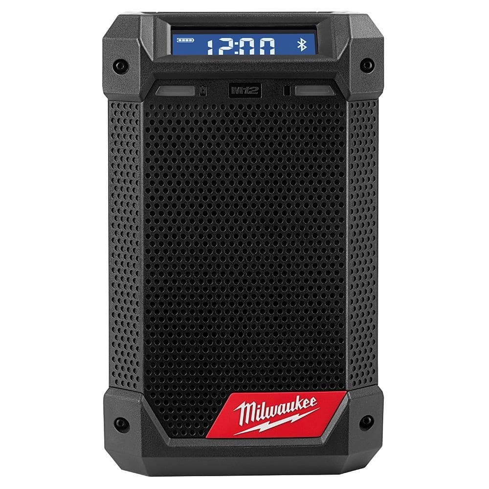 Milwaukee M12 12-Volt Lithium-Ion Cordless Bluetooth/AM/FM Jobsite Radio with Charger-2951-20 - $76.97 at Home Depot