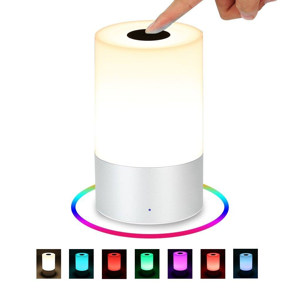 $ 10.5for Tradekmk LED Table Lamp, Touch Sensor with Rechargeable Bedside Lamps, Dimmable Warm White Night Light & Color Changing RGB Atmosphere Mood Lamps for Bedrooms $17.49