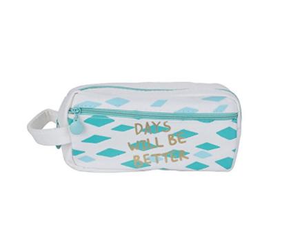 $ 5.49 for Cosmetic Makeup Bag Case Portable Travel Toiletry Bag Pencil Pen Case Pouch Handbag Organizer Canvas  @amazon $5.48