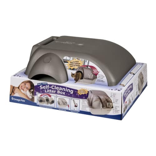 Omega Paw Self-Cleaning Litter Box, Regular, Taupe $24.99 + free shipping for prime