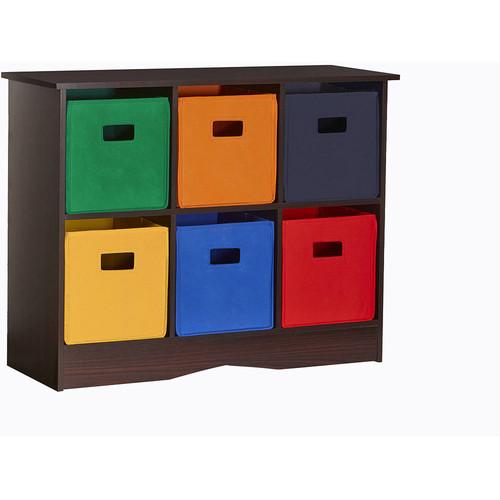 RiverRidge Kids 6 Bin Storage Cabinet, Espresso [Espresso Brown]$50.99 + free shipping