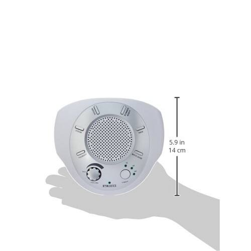 HoMedics SS-2000G/F-AMZ Sound Spa Relaxation Machine with 6 Nature Sounds, Silver $19.79 + free shipping for prime