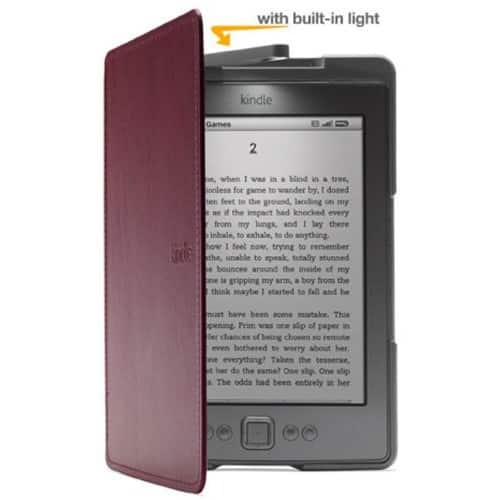 Amazon Kindle Lighted Leather Cover, Wine Purple $47.99 + free Shipping