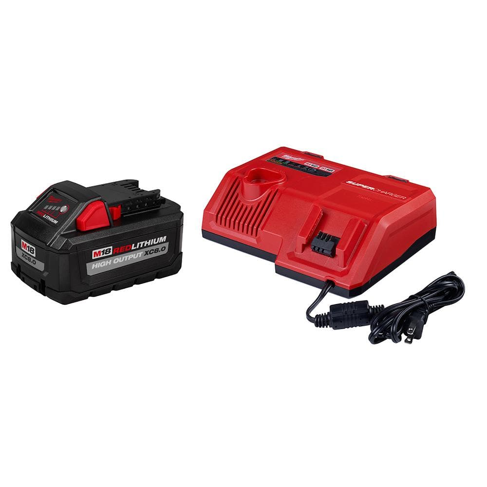 Milwaukee Super Battery Charger Starter Kit with 8.0 Ah High Output Battery $199
