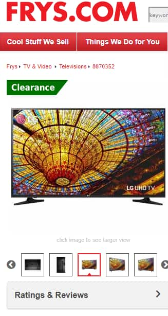 "LG 65"" Class (64.5"" Actual Diagonal Size) UH5500 Series 4K UHD Smart LED TV $499"
