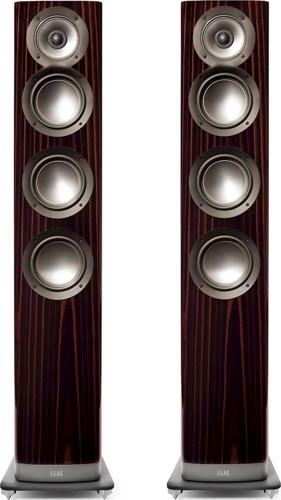 "ELAC - Navis 5-1/4"" Powered Wireless 3-Way Floor Speakers (Pair) - Gloss Ebony Emara $1999 (Normally $3999)"
