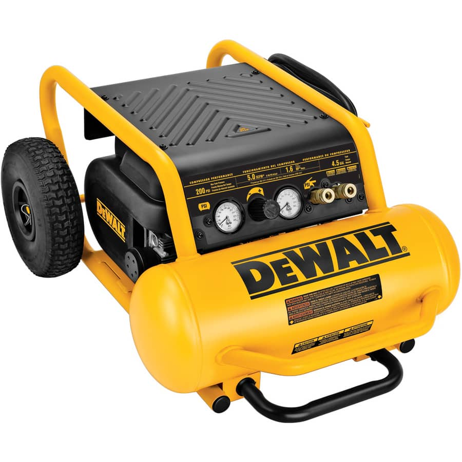 DEWALT  D55146 4.5 Gallon Portable 200-PSI Electric Twin Stack Air Compressor $223 or less after GC and 10% off code @ Lowes Online Only