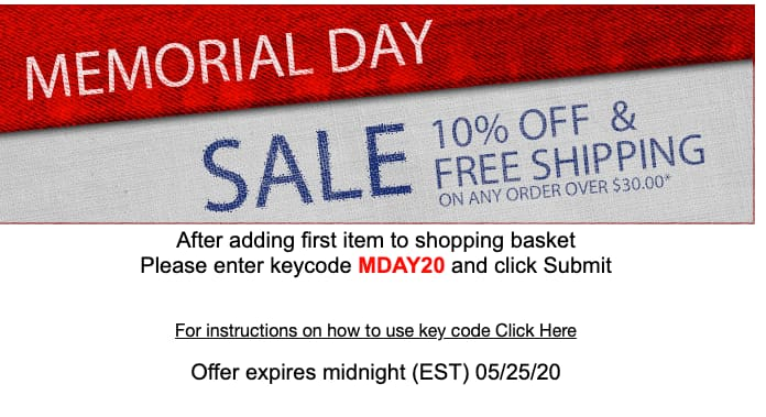 Peachtree Woodworking Supply Memorial Day Sale 10% off + fs on any order over $30* exp midnight EST 5/25/2020