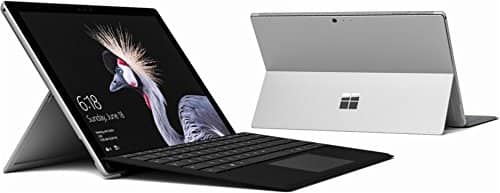 """Microsoft - Surface Pro - 12.3"""" Touch-Screen - Intel Core M - 4GB Memory - 128GB SSD with Black Type Cover (Latest Model) - Silver $699"""