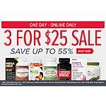 GNC Vitamin & Supplement Sale 3 for $25 + FS (w/ Shoprunner)