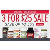 GNC Deal: GNC Vitamin & Supplement Sale 3 for $25 + FS (w/ Shoprunner)