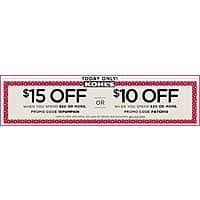 Kohls Deal: Kohls: Save $15 when you spend $50 or spend $30 & save $10!