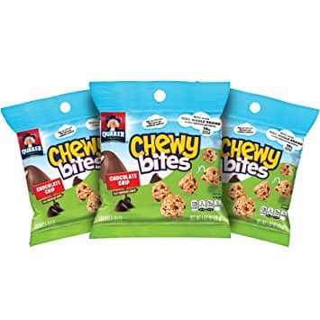 Quaker Chewy Bites, Chocolate Chip, Granola Snacks, 1 oz, 16 Bags (Packaging Will Vary) $9.8