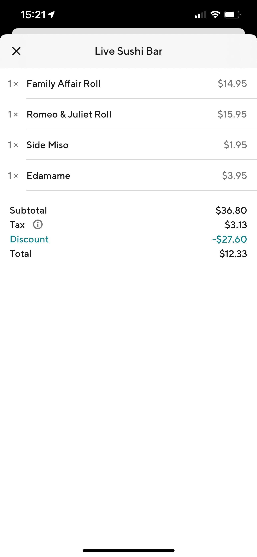 75% Off (Up to $30) discount at DoorDash *YMMV*