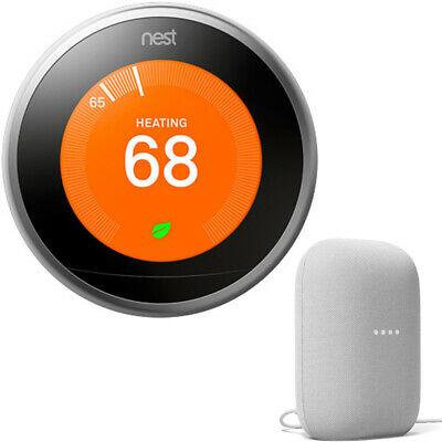 Google Nest 3rd Gen Learning Thermostat (St. Steel) T3007ES + Smart Speaker. $250 (eBay Daily Deal)