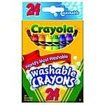 24 count Crayola Washable Crayons. $1.97 + Free shipping @ amazon