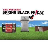 Lowes Deal: Lowe's Spring Black Friday - 2 Big Weekends Sale. 5 (five)  2cu ft Premium Mulch for $10, Master Forge 3-Burner Gas Grill for $299 and more
