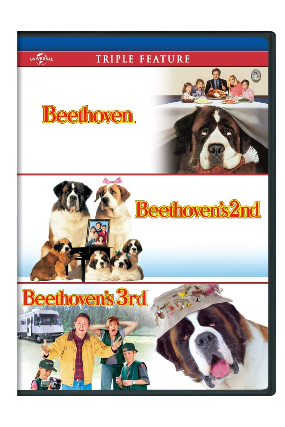 Beethoven / Beethoven's 2nd / Beethoven's 3rd Triple Feature (DVD). $3.99 + Free Shipping @ Amazon