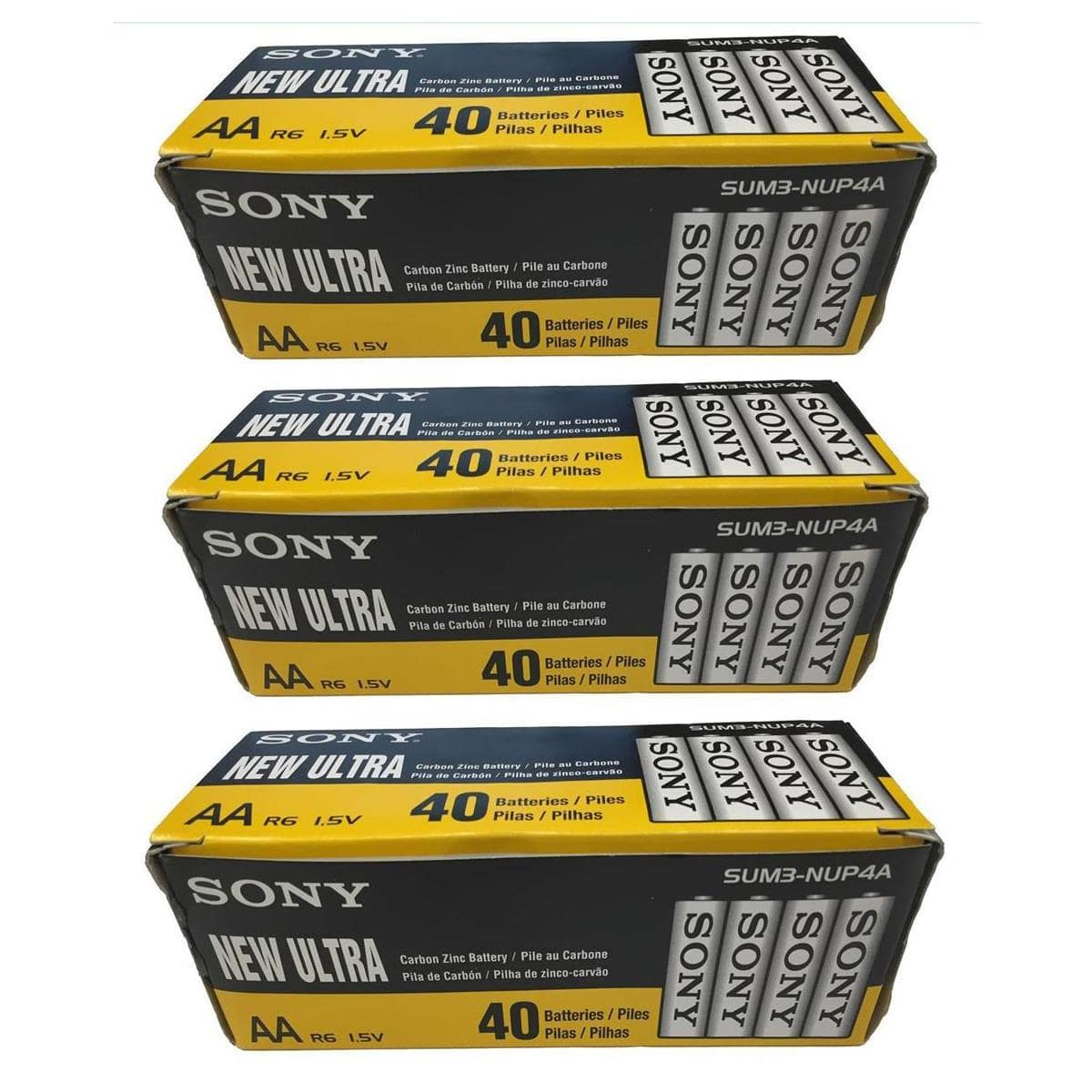 120 Pack Of Sony Ultra Heavy Duty Carbon Zinc Batteries (AA size). $25 + Free Shipping @ Adorama