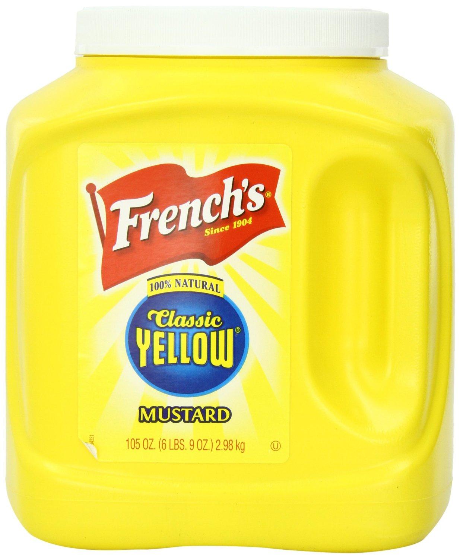 105 Ounce (6lb 9oz) Classic Yellow French's Mustard Jar. $4.78  @ Walmart