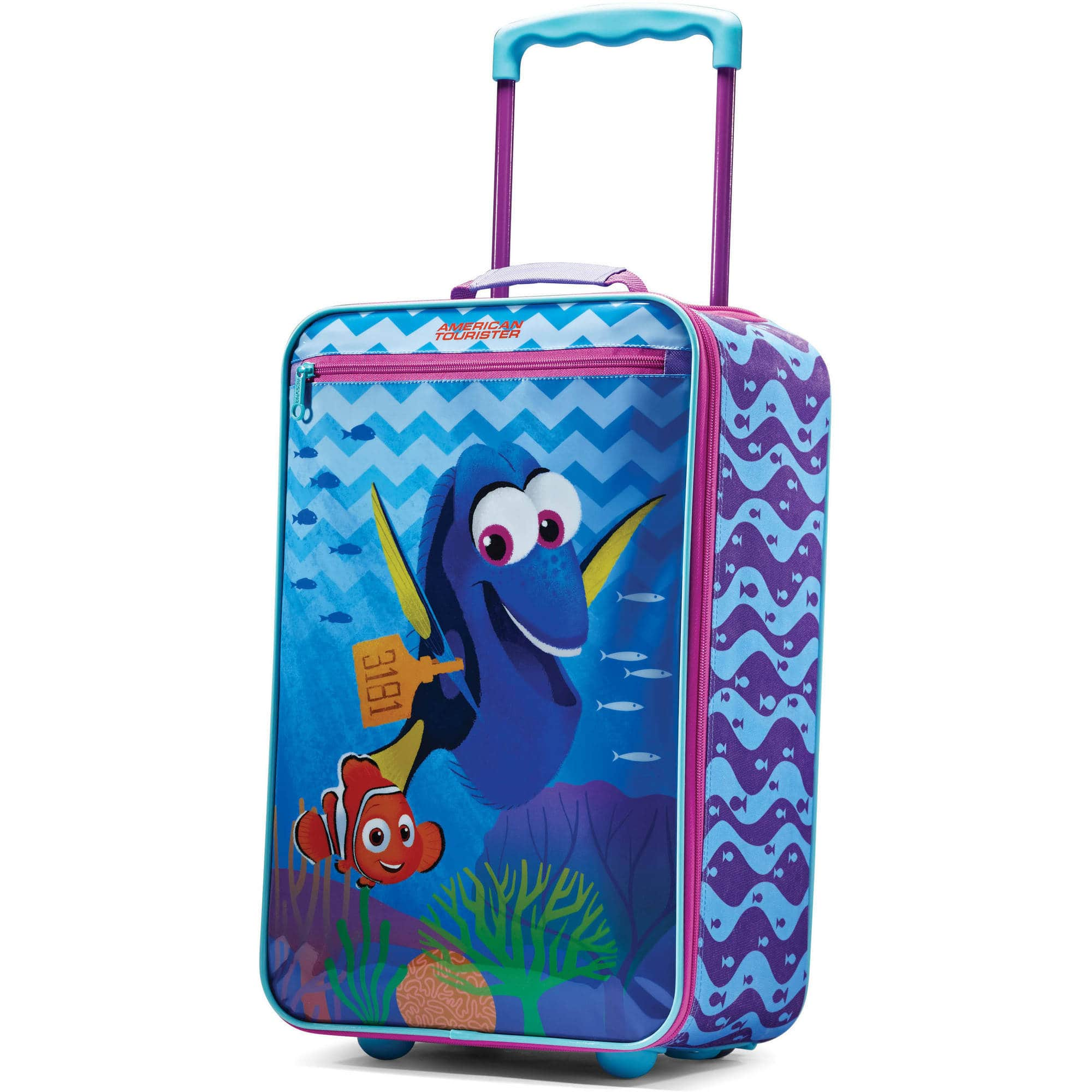 "American Tourister Disney Finding Dory 18"" Upright Softside. $14 + FS w/Prime"