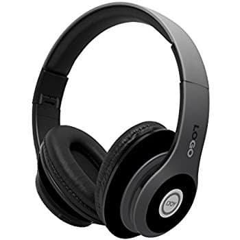 iJoy Matte Rechargeable Wireless Bluetooth Foldable Over Ear Headphones with Mic (Stealth Color) $14.99 + FS w/Prime