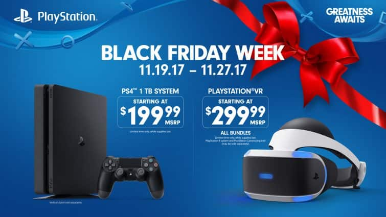 Sony BF Deals: PlayStattion 4 1TB console - $199.99, Playstation VR $299 & More
