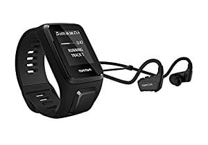 TomTom Spark 3 Cardio + Music, GPS Fitness Watch + Heart Rate Monitor + 3GB Music + Bluetooth Headphones (Black, Small) $150