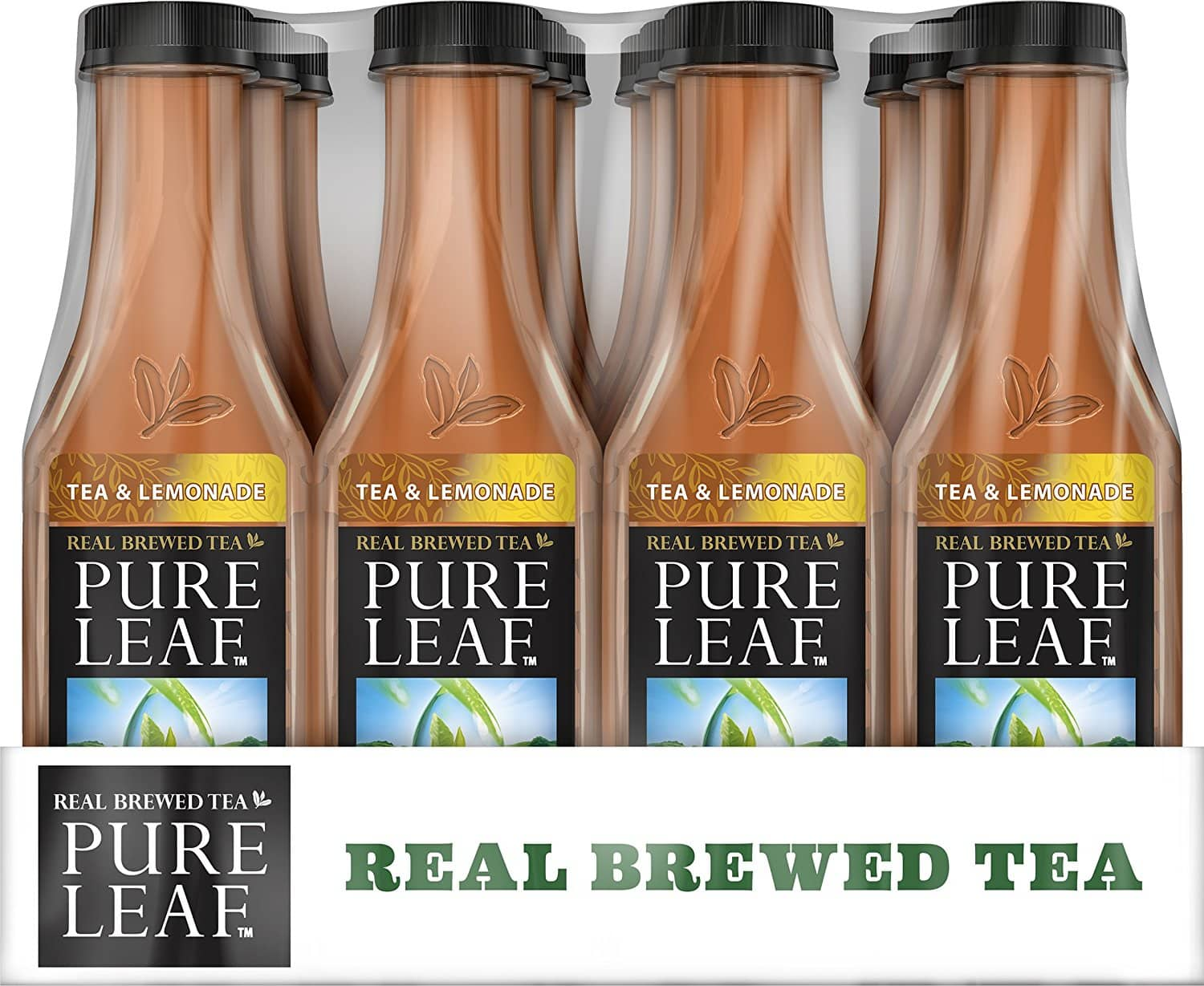 Pack of 12 18.5 Ounce Pure Leaf Iced Tea, Tea and Lemonade, Real Brewed Black Tea. $7.60 With S&S + FS w/Prime