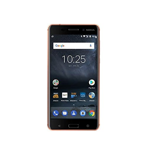 Nokia 6 - 32 GB - Unlocked (AT&T/T-Mobile) -  Prime Exclusive - with Lockscreen Offers & Ads (Copper or Black) $149.99