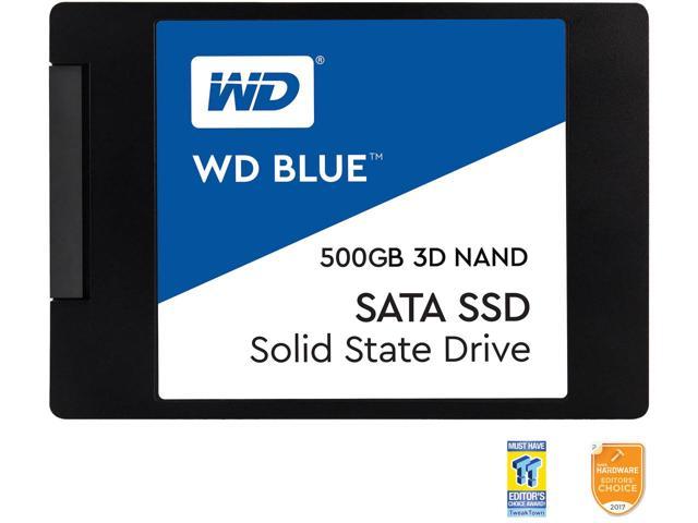 """WD Blue 3D NAND 500GB PC SSD - SATA III 6 Gb/s 2.5""""/7mm Solid State Drive - WDS500G2B0A. $129.99 @ Newegg"""
