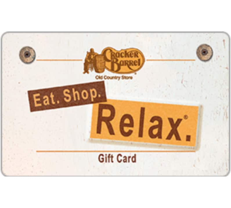 $100 Cracker Barrel Old Country Store® Gift Card for only $85 - Email Delivery (eBay Daily Deal)