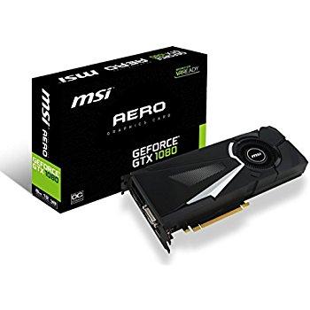 MSI Gaming GeForce GTX 1080 8GB GDDR5X SLI DirectX 12 VR Ready Graphics Card (GTX 1080 AERO 8G OC) $502.76 + FS from Amazon