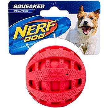 2.5 Inch Nerf Dog Checker Squeak Ball (Red) $2.34 + FS