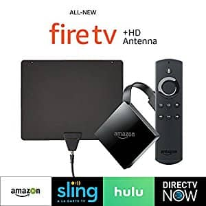 All-new Fire TV with 4K Ultra HD (2017 Edition, Pendant) + HD Antenna. $69.98 (Amazon)
