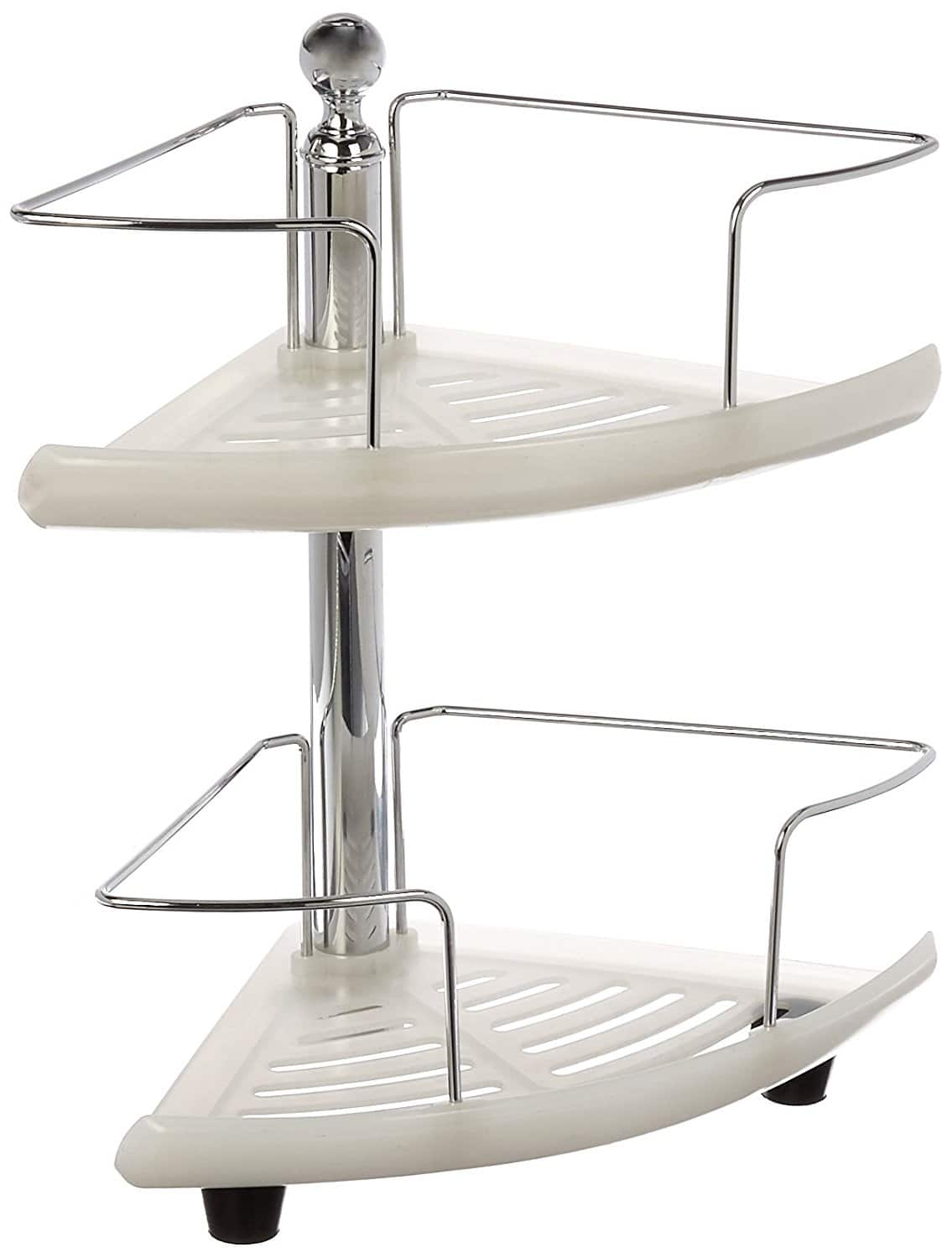 HomeZone 2-Tier Standing Adjustable Caddy, Chrome. $6.76 (Walmart)