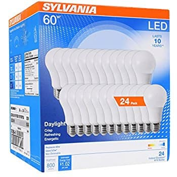 24-Pack Sylvania Home Lighting 74766 A19 LED Sylvania 60W Equivalent Light Bulb Lamp (Daylight) $29.99