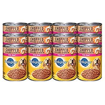 12 (13.2 oz. Cans) PEDIGREE Chopped Ground Beef Dinner Adult Wet Dog Food. $10.68 + FS