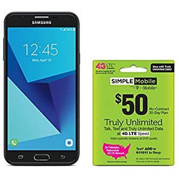 Samsung Galaxy J7 Sky Pro 4G LTE Prepaid Smartphone with Free $50 Unlimited Bundle (TracFone & Simple Mobile) $99.99 (Amazon)