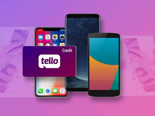 Tello Credits: $10 for $1.99, $20 for $3.99, $30 for $5.99 and $39 for $9.99 (Or 10% Less for new users)