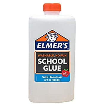32 Ounces Elmer's Liquid School Glue, White, Washable. $3.56 @ Amazon